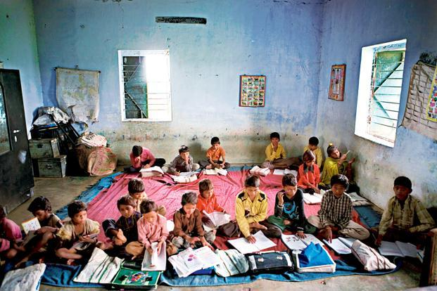The 12th Five-Year Plan documents underline that although the number of elementary schools has increased to 1.3 million, many schools lack the basic infrastructure facilities required under the Right to Education Act. Photo: Mint