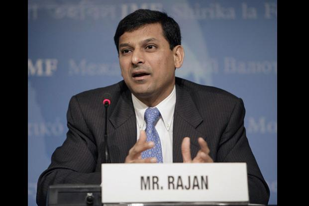 Raghuram Rajan briefs the press on the World Economic Outlook on 13 April, 2005 at the International Monetary Fund Headquarters (IMF), Washington, DC. Rajan served as the Chief Economist at the IMF from 2003-2007. AFP