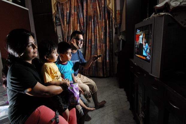 Television will continue to expand at an expected growth rate of 18% between 2012-2017, driven by growth in both subscription payments and advertising revenues. Photo: Priyanka Parashar/Mint