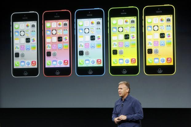 Phil Schiller, senior vice-president of worldwide marketing for Apple Inc., talks about the new iPhone 5C at Apple's media event in Cupertino, California. Photo: Reuters