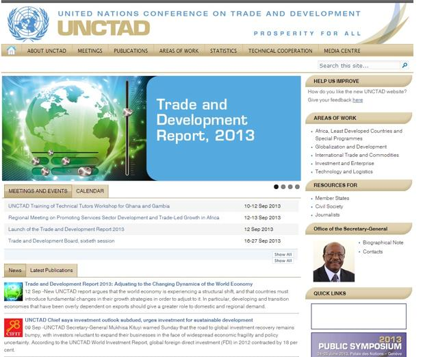 The Unctad report says an export-oriented growth model is no longer viable in the current context of slow growth in development economies.