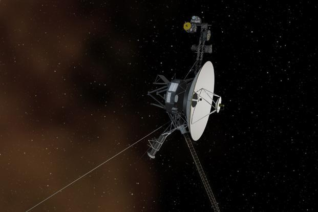 The 36-year-old probe is about 12 billion miles (19 billion kilometres) from our sun, and 11.6 billion miles from Earth. Travelling at the speed of light, a signal from Voyager 1 takes about 17 hours to travel to Earth. Reuters
