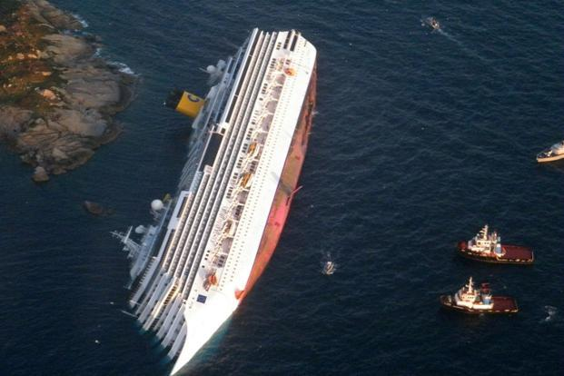 Costa Concordia Stands Upright After 20 Months On The