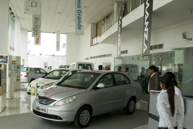 A file photo of a Tata Motors showroom. Photo: Mint  (Mint )