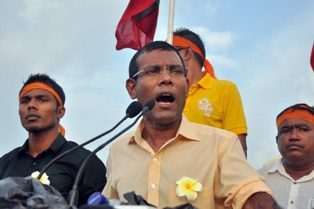 Maldivian Democratic Party leader Mohammed Nasheed who led the first round with over 45% votes, has to face in the second round the Progressive Party of Maldives candidate Abdullah Yameen who was the runner up in the first phase held on 7 September. Photo: AFP (AFP)
