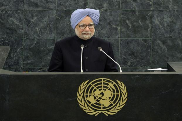 Prime Minister Manmohan Singh addresses the audience during the 68th session of the United Nations General Assembly at the United Nations in New York on 28 September. Timothy Clary/AFP  (Prime Minister Manmohan Singh addresses the audience during the 68th session of the United Nations General Assembly at the United Nations in New York on 28 September. Timothy Clary/AFP )
