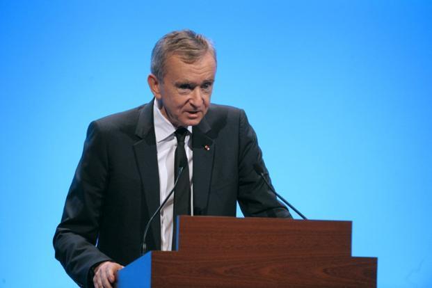 The chief executive officer of the  luxury goods maker LVMH, Bernard Arnault.               Photo: AFP (AFP)