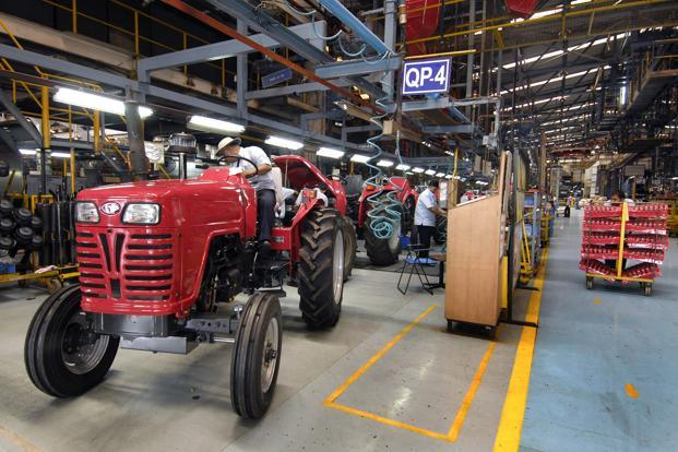 Robust farm-equipment sales on the back of a strong monsoon will offset the weak performance in auto segment. Photo: Abhijit Bhatlekar/Mint (Abhijit Bhatlekar/Mint)