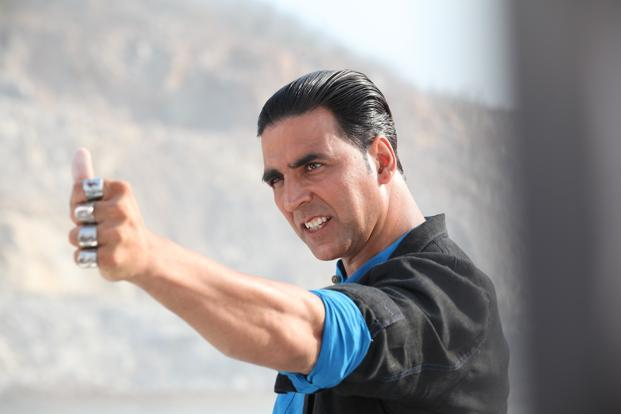 Bollywood actor Akshay Kumar in the movie 'Boss'