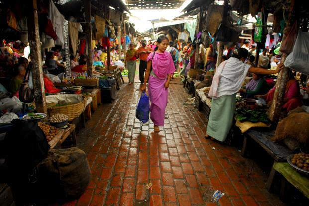A file photo of the city of Imphal. Photo: Indranil Bhoumik/Mint
