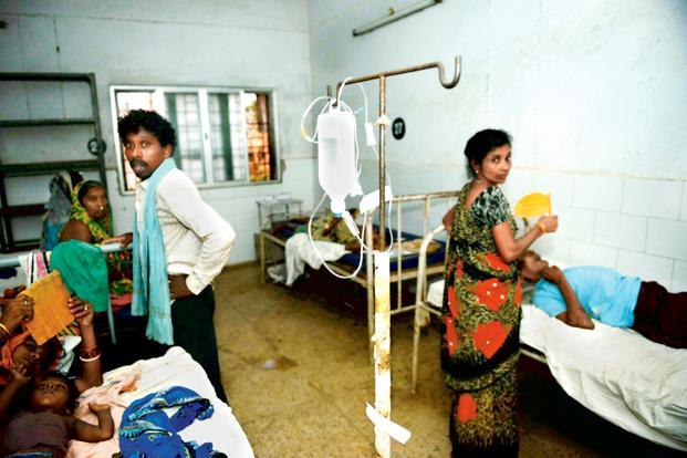 Patients at a hospital in Chhatrapur, the headquarters of Ganjam district, which is the worst-affected in the state. Photo: Pradeep Gaur/Mint