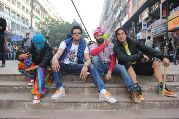 The gang of hackers in a still from 'Mickey Virus'