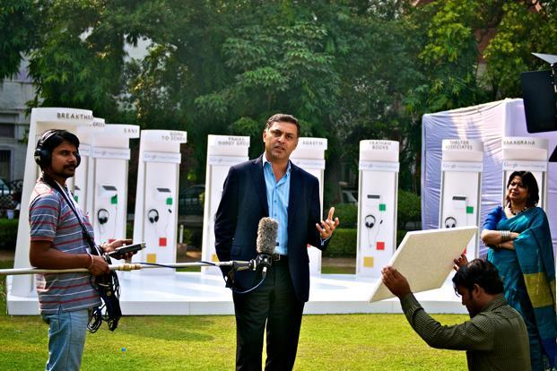 Nikesh Arora (second from left), Google's chief business officer, at the award ceremony. Photo: Priyanka Parashar