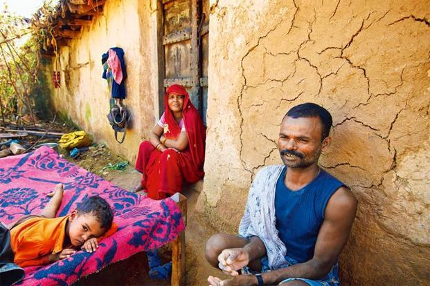 Deepak Raj's family in Lohgarh, Madhya Pradesh. Photo: Priyanka Parashar/Mint
