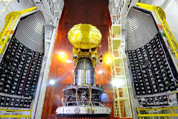 Mars Orbiter Mission Spacecraft attached to PSLV-C25. The 1.3-tonne Mars Orbiter Mission is carrying a Methane sensor for Mars built to measure the natural gas in the Martian atmosphere and map its sources. The project is expected to cost <span style=