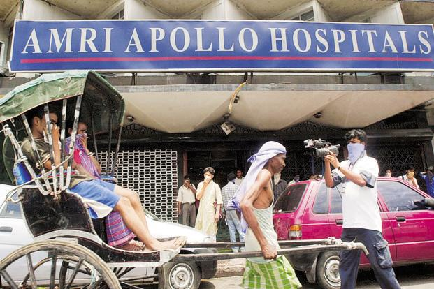 A file photo of AMRI Hospitals in Kolkata. The verdict marked the highest compensation ever ordered in a case of medical negligence in India.