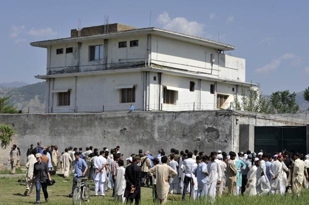 Osama bin Laden, who was holed up in this Abbottabad house, was killed in a daring US raid in May 2011. Photo: Aamir Qureshi/AFP