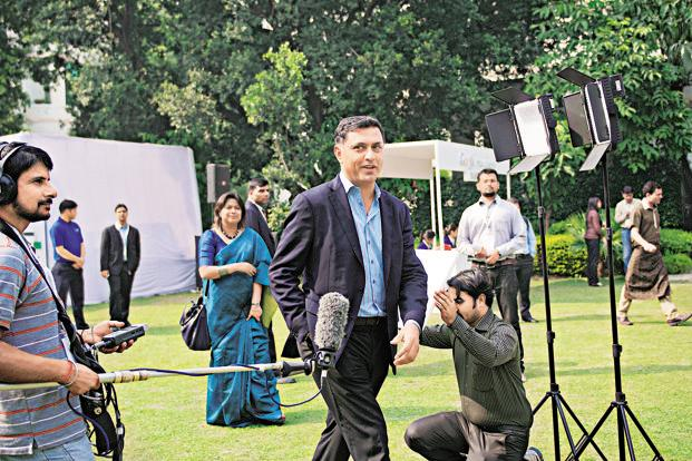 Nikesh Arora says that life is a combination of capability, luck and hard work, if one gets all three then he's able to break through various ceilings. Photo: Priyanka Parashar/Mint