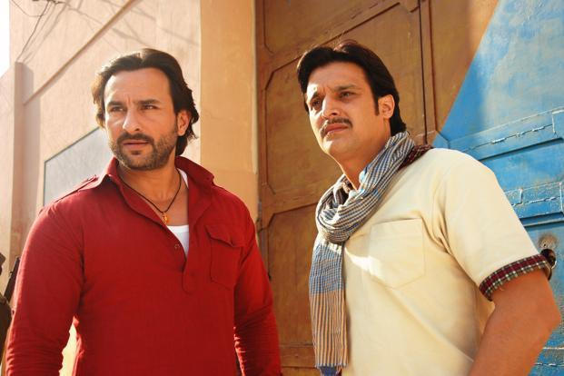 Saif Ali Khan (left) and Jimmy Shergill are mere vehicles to keep a muddled narrative afloat