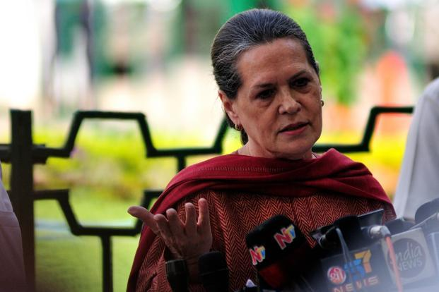 Congress party president Sonia Gandhi says one reason for the ruling party's poor performance in the recent state assembly elections may have been its failure to meet people's 'aspirations'. Photo: Pradeep Gaur/Mint