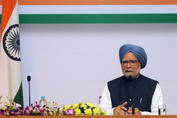 Prime Minister Manmohan Singh finally, though petulantly, announced his withdrawal from public life after the impending national elections. Photo: PIB