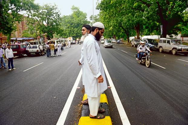 While Muslims constitute less than 10% of the population pursuing higher education, according to government data, the Sachar committee highlighted that the presence of Muslims in top government jobs was minuscule—3% in the Indian Administrative Service, 1.8% in the Indian Foreign Service and 4% in the Indian Police Service. Photo: Pradeep Gaur/Mint