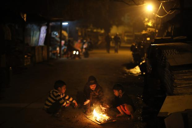 Image result for Delhi cold at night