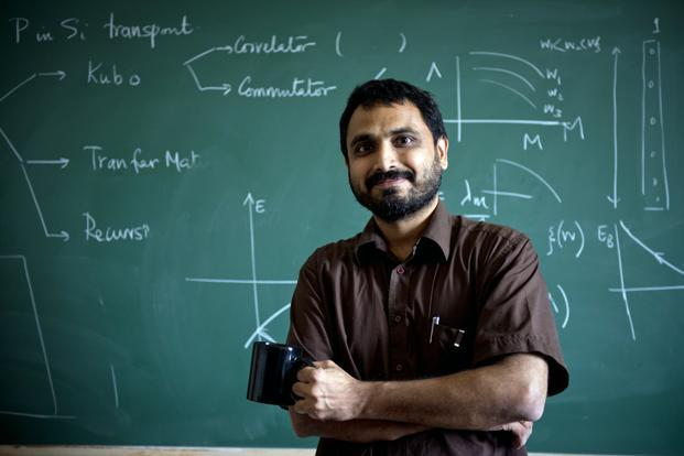 Vijay Shenoy, professor of physics at Bangalore's Indian Institute of Science, has mathematically predicted the creation of a new subatomic particle, the rashbon, in the course of his research into quantum mechanics. Photo: Aniruddha Chowdhury/Mint