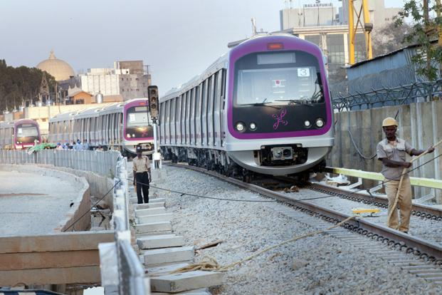Christened 'Namma Metro,' the Bangalore Metro until Friday only ran a 6.7 km line between Byappanahalli in North West Bangalore and M. G. Road in the city central business district. Commercial operations on the new line will begin at 6 AM Saturday, 1 March.