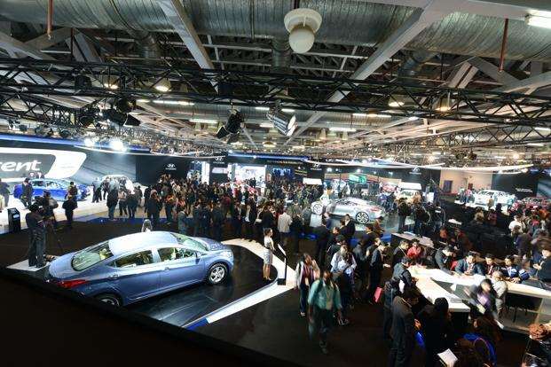With the unveiling of around 40 new cars and two-wheelers being squeezed into a single day at the sparkling new venue, the biennial Delhi Auto Expo can now aspire to join the leagues of top global motor shows held in Tokyo, Geneva and Frankfurt. Photo: Ramesh Pathania/Mint