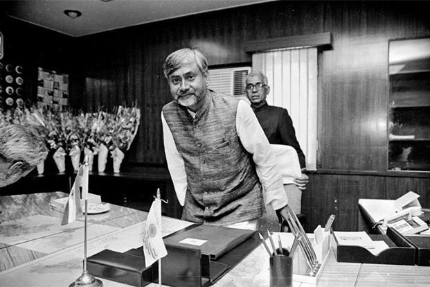 Nitish Kumar as Union cabinet minister for railways in April 1998. Photo: Girish Srivastava/Hindustan Times