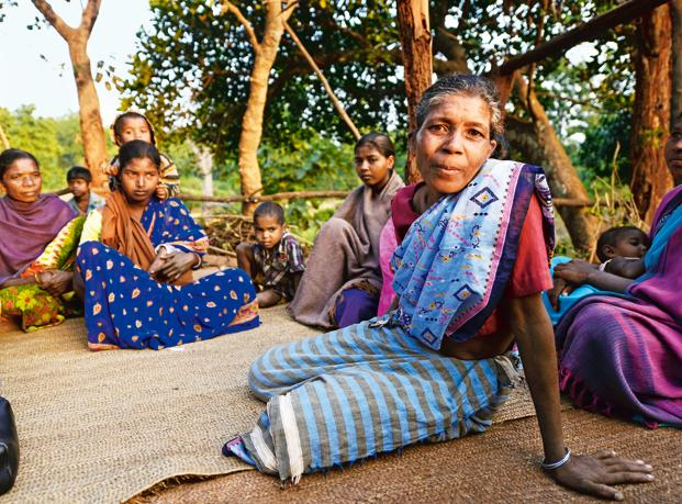 Shanti Sandipurti, a victim of witch hunting who stays 9km from Bandgaon in Jharkhand.  Photo: Ramesh Pathania/Mint