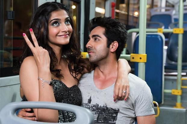 Sonam Kapoor and Ayushmann Khurrana in a still from the film