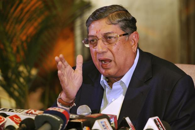"The Supreme Court said BCCI president N. Srinivasan's continuation in office so far is ""nauseating"". Photo: HT"