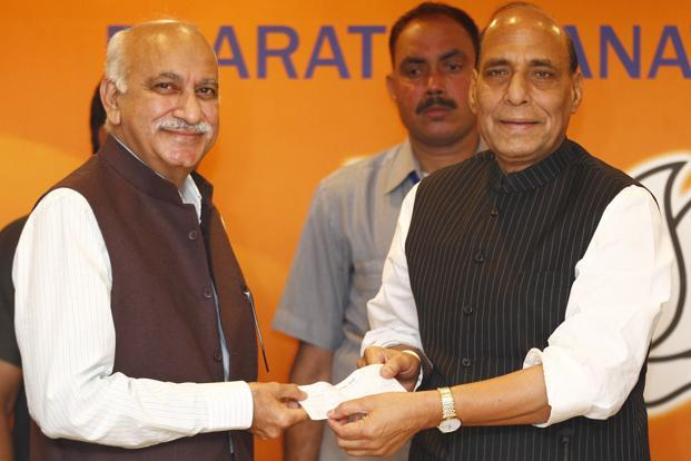 M.J. Akbar (left), the much-admired journalist, ceased to exist a long time ago and we hadn't noticed. Photo: Arun Sharma/ Hindustan Times