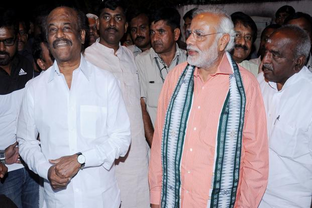 Narendra Modi meets actor Rajinikanth