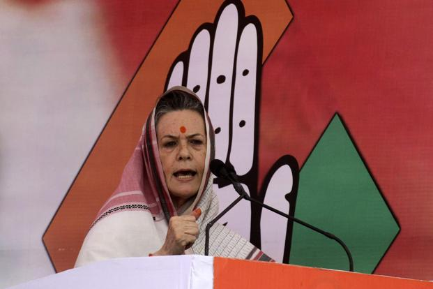 Congress leaders expressed concern about Sonia Gandhi's health after the party cancelled three of her campaign rallies in Maharashtra on Sunday, saying she was indisposed. Photo: Reuters