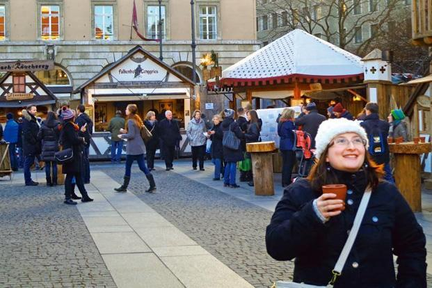 Enjoying a cup of honeyed wine at the medieval market in Munich. Photographs by Malavika Bhattacharya