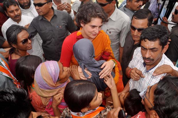 Image result for priyanka gandhi election campaign