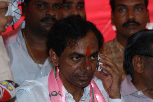 Led by K. Chandrasekhara Rao, popularly known as KCR, the TRS seems to be having an edge over the Congress in the elections. Photo: Hindustan Times