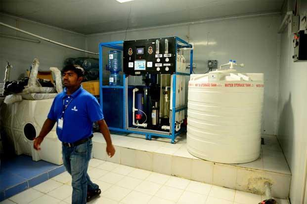 The groundwater goes through a five-stage purification process at the Piramal plant.