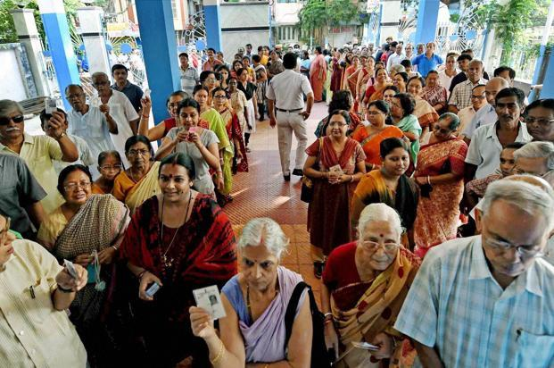 About 814 million people were eligible to vote in the five-week Lok Sabha elections which wrapped up on Monday. Photo: PTI