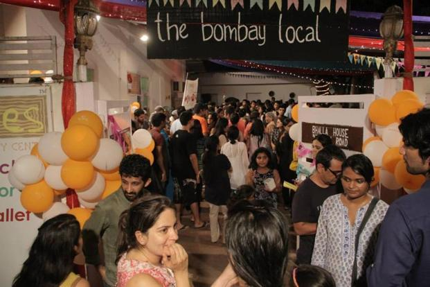 The crowds at The Bombay Local pop-up food show