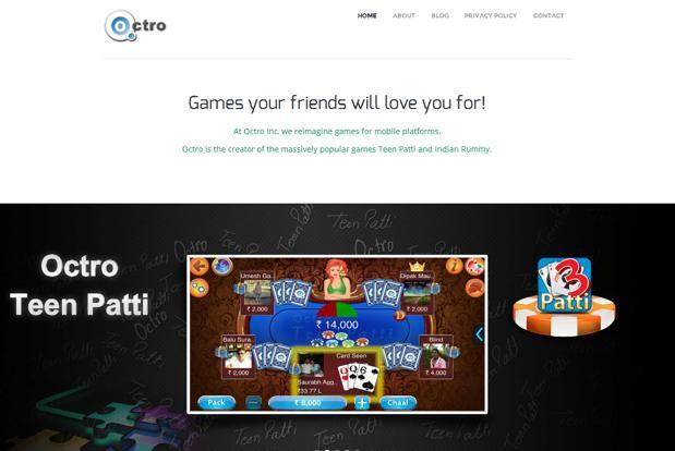 Octro's portfolio of traditional games Teen Patti and Rummy—both card games—have become among the most downloaded games in multiple categories on Google Play.