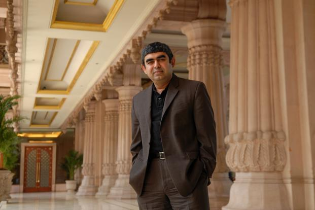 Vishal Sikka is the company's first non-founder chief executive, elected 33 years after Infosys (then Infosys Technologies Ltd) was founded in 1981 by seven engineers who moved from Patni Computer Systems. Photo: Hemant Mishra/Mint