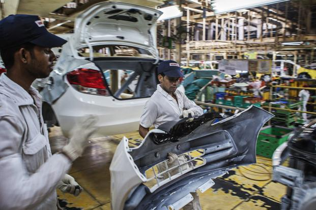 A File Photo Of Honda Plant In Greater Noida If Decides To Build