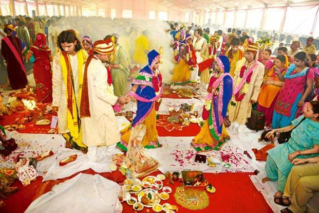 photo essay wedding bells slideshow livemint hindu couples during the ceremony
