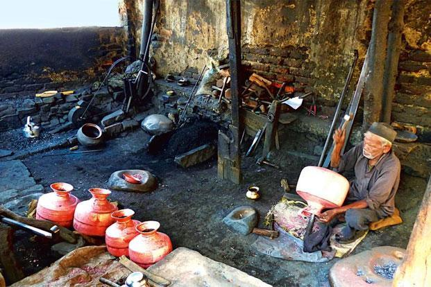 One of the oldest surviving copper workshops in Tamta mohalla. Photo: Prachi Joshi