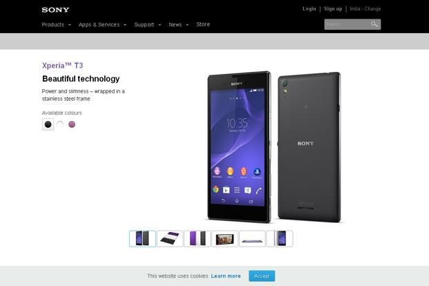 Sony India unveils Xperia T3 priced at Rs27,990