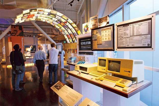 A display of computers from a bygone era at the museum. Photo: Justin Sullivan/Getty Images